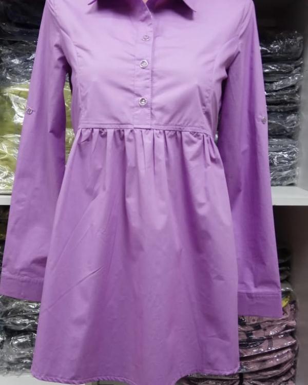Блуза х/б лаванда